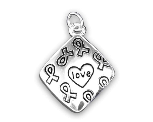 Square Love Charm for Heart Disease Awareness - The House of Awareness