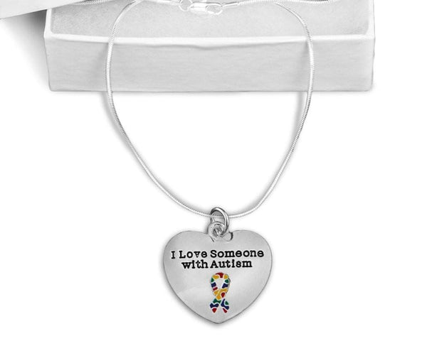 """I Love Someone with Autism"" Necklace , Necklaces - The House of Awareness, The House of Awareness  - 1"
