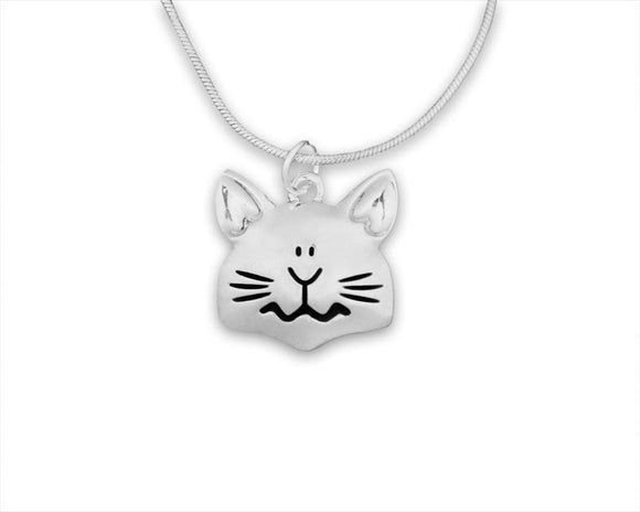 Cat Face Shaped Charm Necklace - The House of Awareness