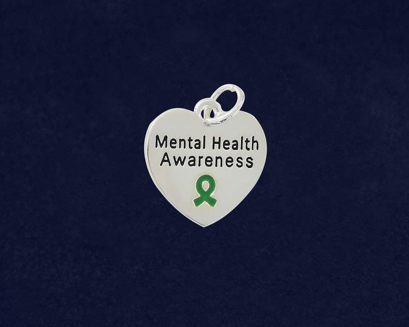 Mental Health Awareness Heart Key Chain - The House of Awareness