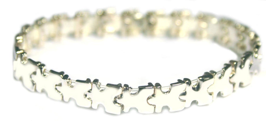 Autism Awareness Puzzle Piece Stretch Bracelet - The House of Awareness