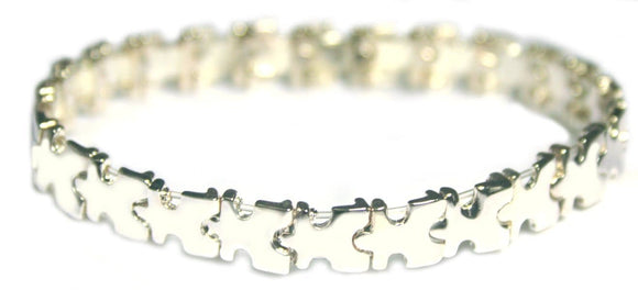 Autism Awareness Puzzle Piece Stretch Bracelet , Women - Jewelry - Bracelets - The House of Awareness, The House of Awareness  - 1