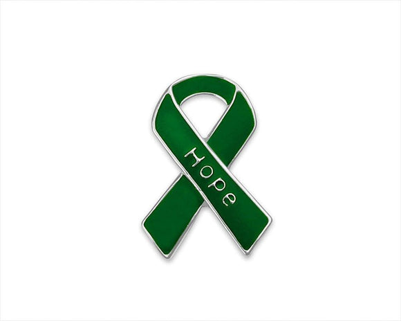 Hope Green Ribbon Pins for Cancer , lapel pin - The House of Awareness, The House of Awareness