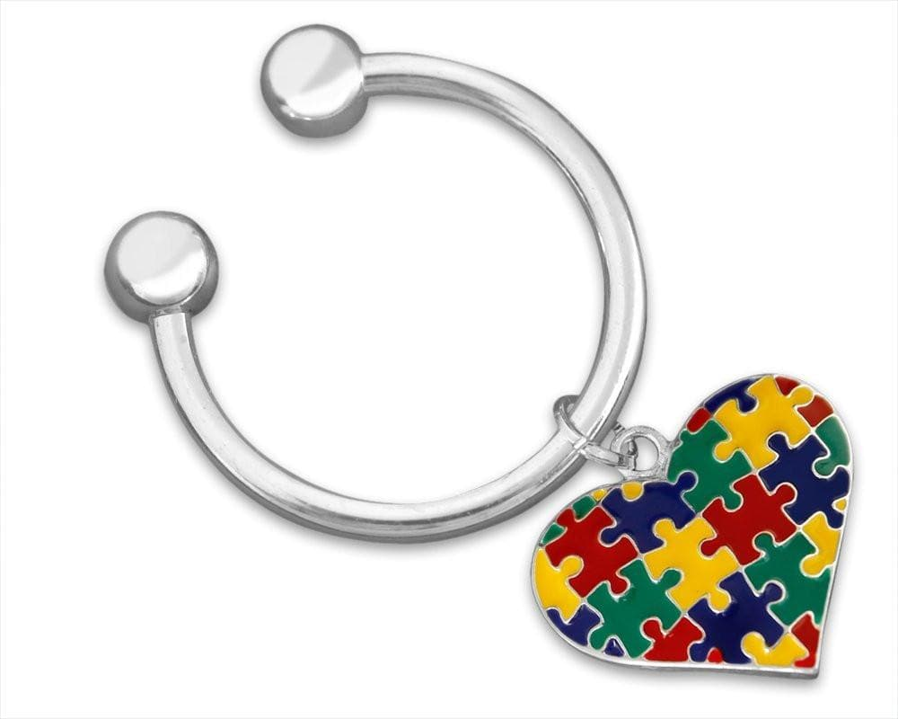 Autism Multicolored Puzzle Piece Key Chain - The House of Awareness