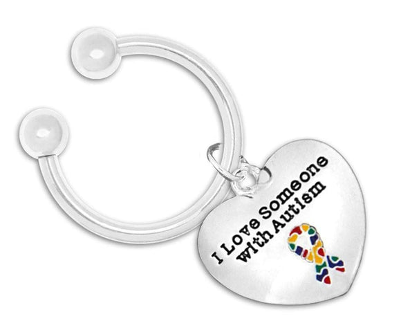 I Love Someone With Autism Key Chain - The House of Awareness