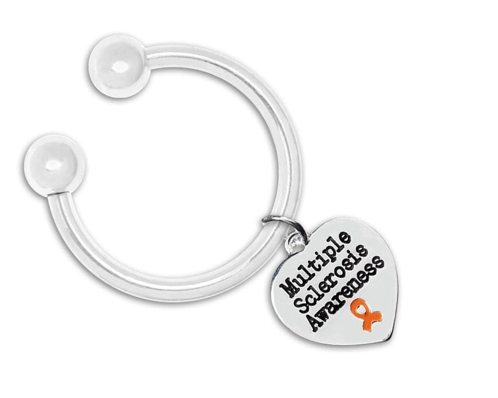 Multiple Sclerosis Awareness Heart Key Chain - The House of Awareness