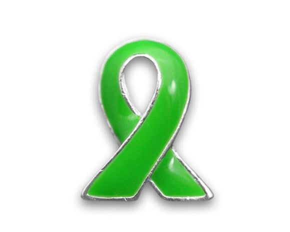 Green Ribbon Pin for Cancer , lapel pin - The House of Awareness, The House of Awareness  - 1