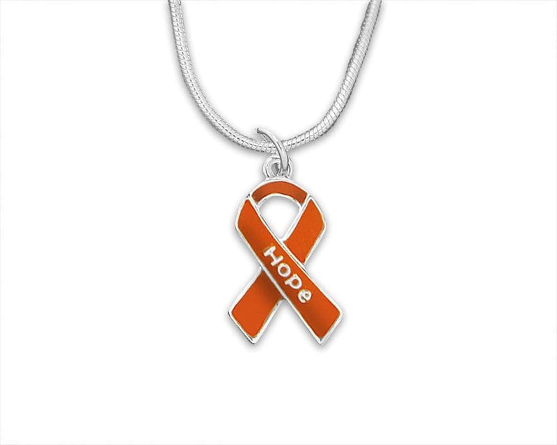Orange Ribbon Hope Necklace for Cancer - The House of Awareness
