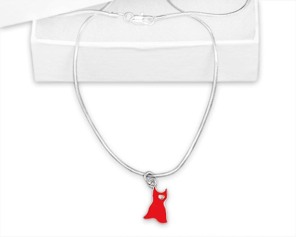 Red Dress Go Red Awareness Necklace for Heart Disease - The House of Awareness