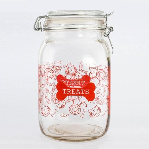 Glass Pet Treat Canister - The House of Awareness