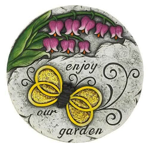 2 Enjoy Our Garden Butterfly Stones
