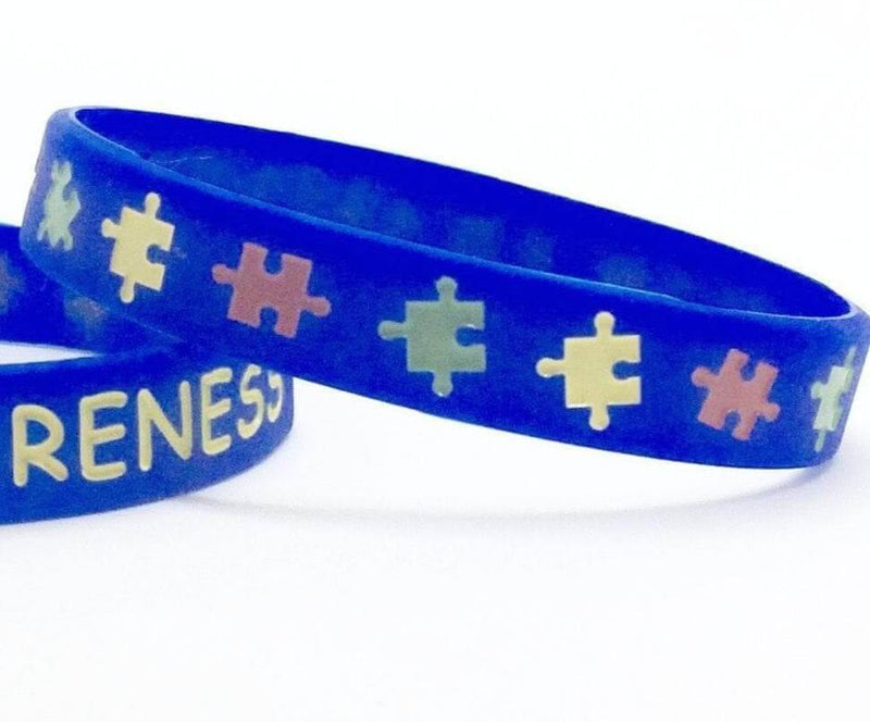 Blue AUTISM AWARENESS Rubber Silicone Bracelet - The House of Awareness