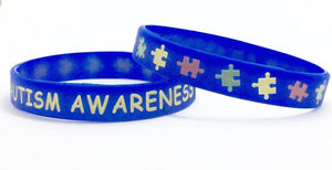 2 Autism Awareness Silicone Adult Size Bracelets