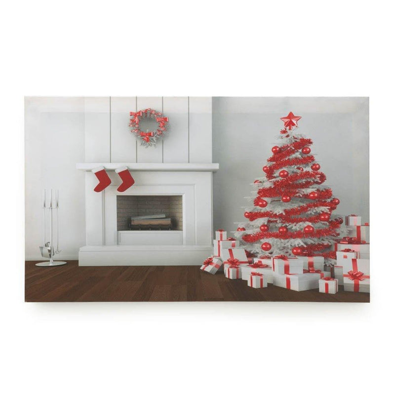 Holiday Fireplace Led Wall Art - The House of Awareness