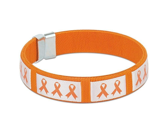 Orange Ribbon Awareness Bangle Bracelet , Bracelets - The House of Awareness, The House of Awareness  - 1