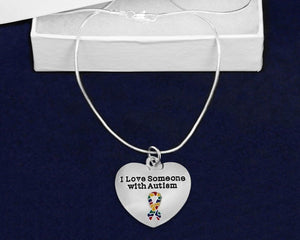 """I Love Someone with Autism"" Necklace - The House of Awareness"