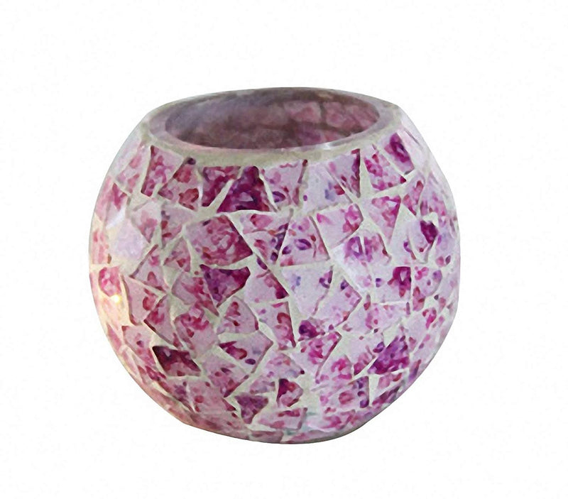 Mosaic Glass Floral Rose Candle Holder - The House of Awareness