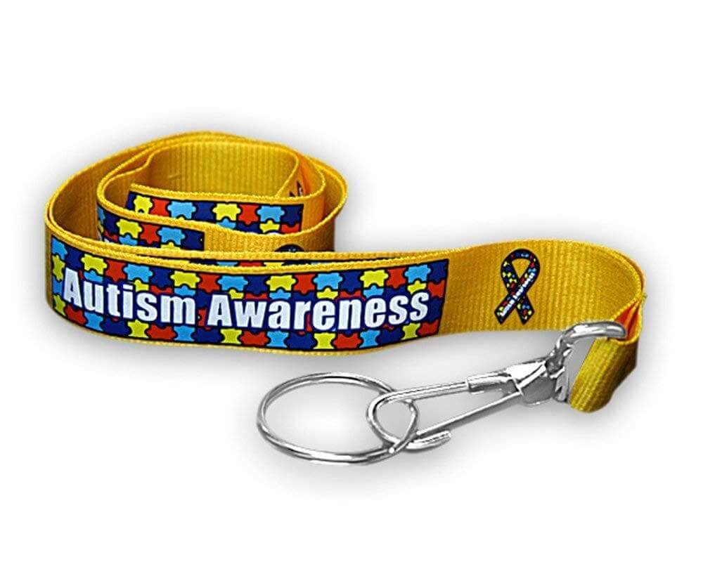 Autism Awareness Ribbon Lanyard - The House of Awareness