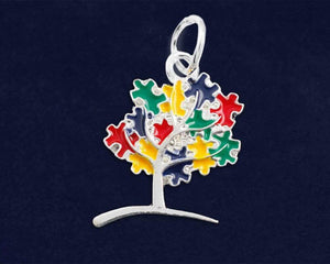 Autism Awareness Puzzle Tree Charm - The House of Awareness