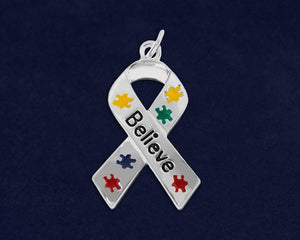 Autism Ribbon Believe Charm - The House of Awareness
