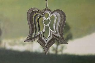 "3"" Silver Angel Wind Spinner - The House of Awareness"