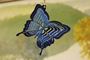 "3"" Blue Butterfly Wind Spinner - The House of Awareness"