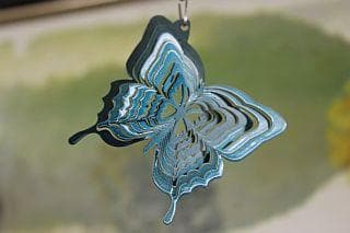 "3"" Teal Butterfly Wind Spinner - The House of Awareness"