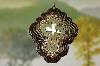 "3"" Copper Cross Wind Spinner - The House of Awareness"