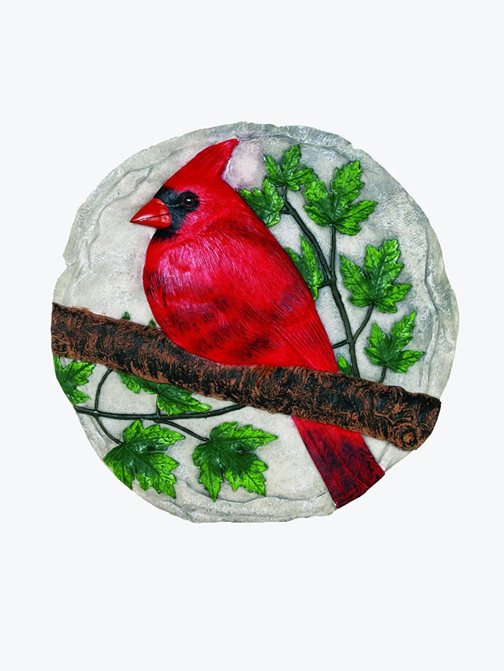 Red Cardinal Decorative Garden Stone