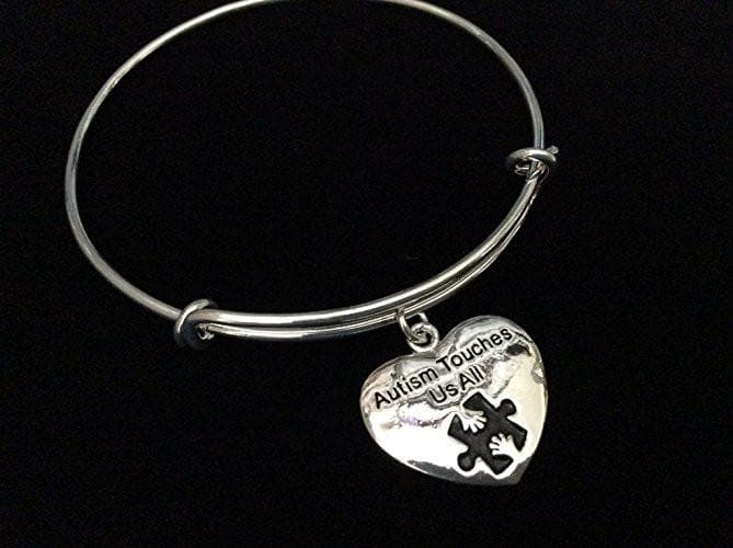Autism Touches Us All Silver Expandable Charm - The House of Awareness