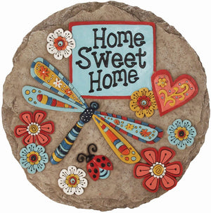 Home Sweet Home Dragonfly Decorative Garden Stone