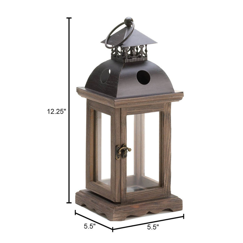 Small and Large Rustic Wood Lantern