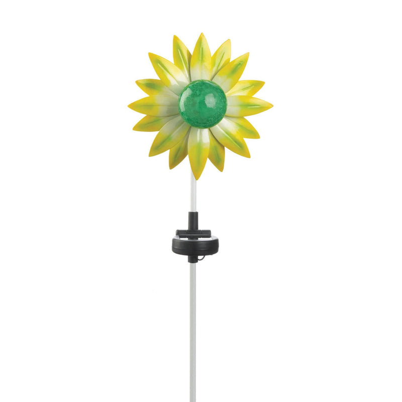 Outdoor Green Flower Solar Stake