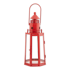 Red Iron Nautical Lantern