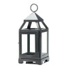 Large and Mini Rustic Silver Contemporary Lantern