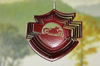 "3"" Mini Motorcycle Shield Wind Spinner - The House of Awareness"