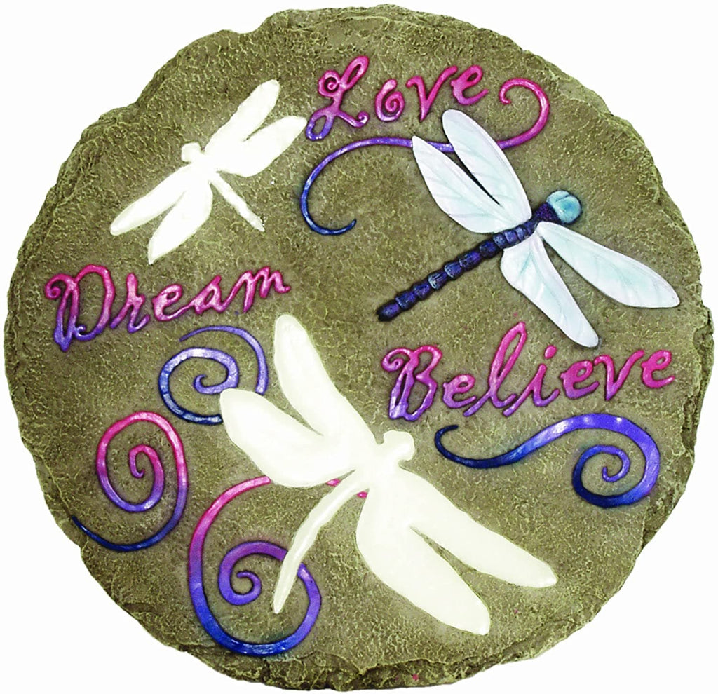Love Dream Believe Glow Decorative Garden Stone