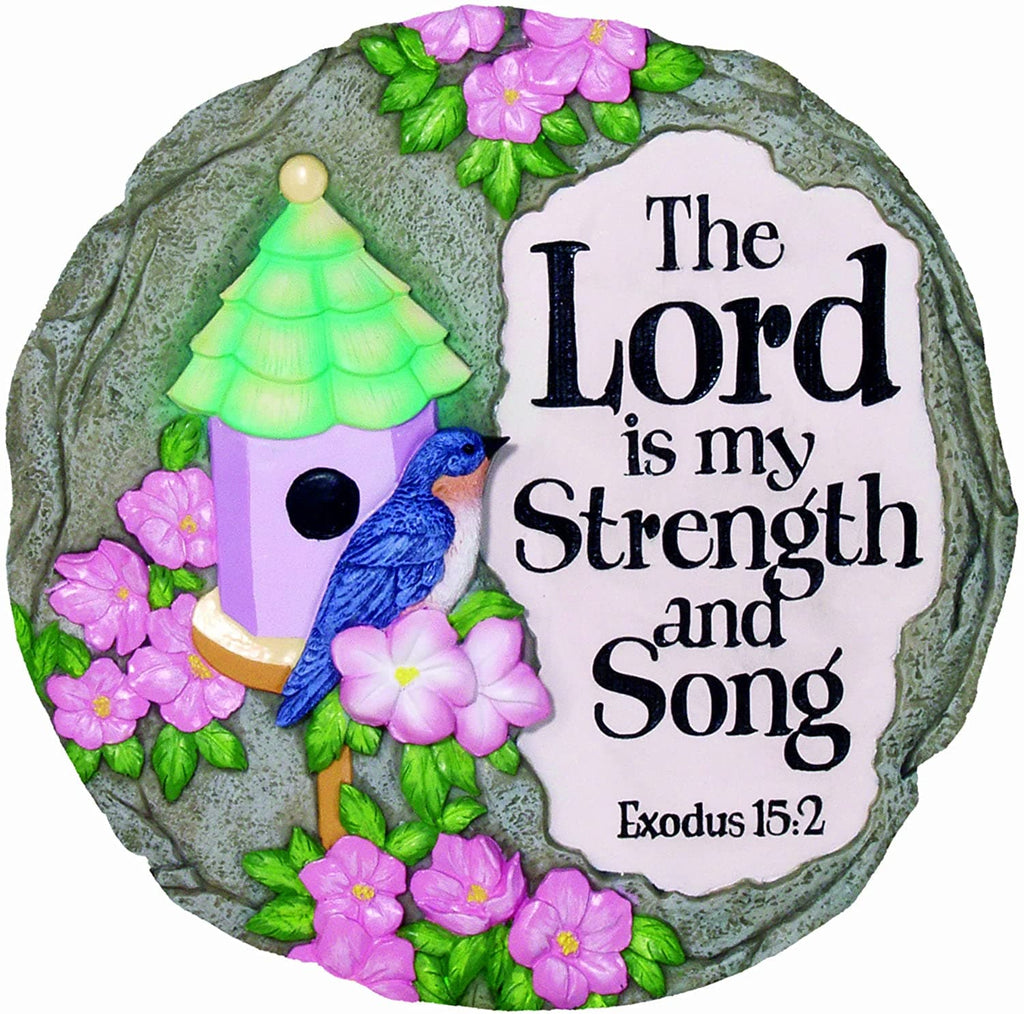 Lord is my Strength Decorative Garden Stone