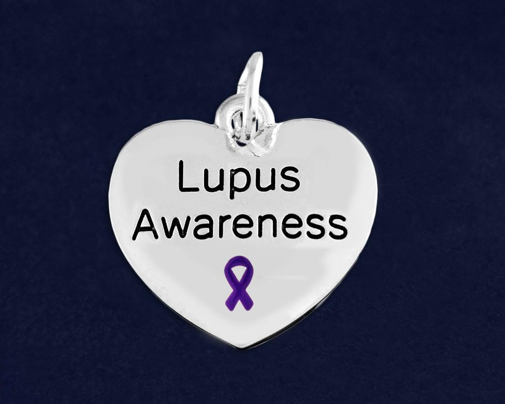 Lupus Awareness Heart Charm - The House of Awareness
