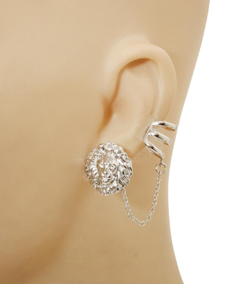 Lion Ear cuff with Matching Lion Earring - The House of Awareness
