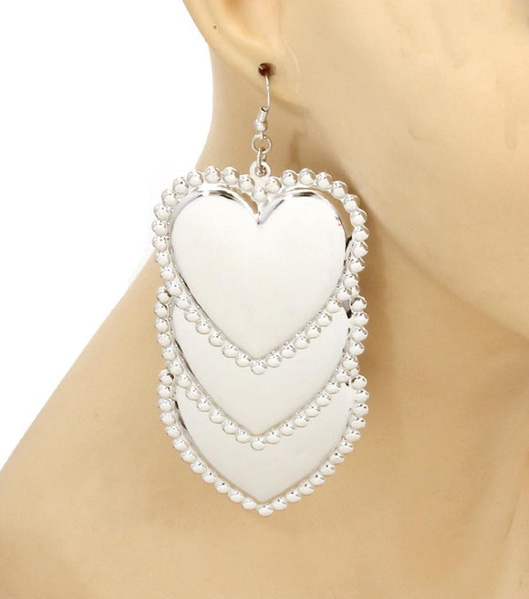 Hearts Drop Earrings , Women - Jewelry - Earrings - The House of Awareness, The House of Awareness  - 1