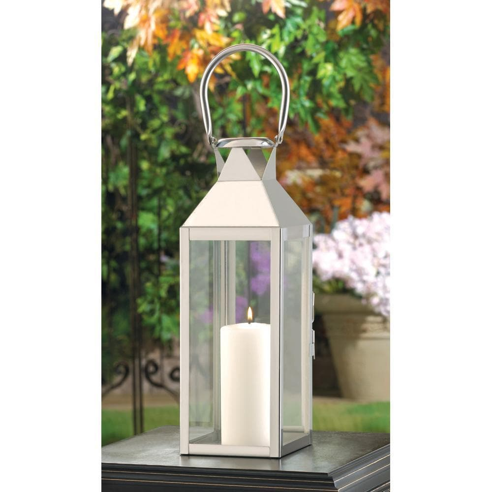 Stainless Steel Plaza Candle Lantern - The House of Awareness
