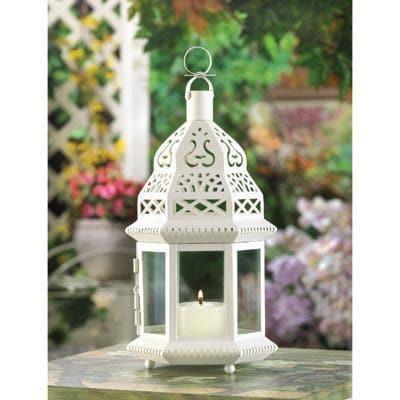 White Moroccan Lantern - The House of Awareness