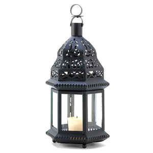 Black Moroccan Candle Lantern - The House of Awareness