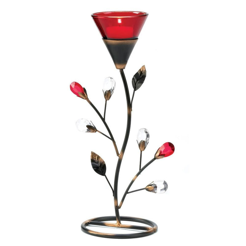 Rich Red Flower Tealight Holder - The House of Awareness