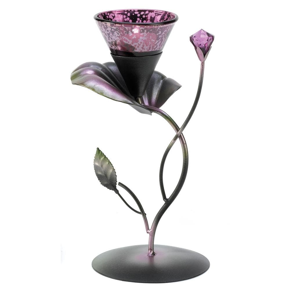 Lilac Lily Pad Tealight Holder , Tealight Candleholders - Gallery Of Light, The House of Awareness  - 1