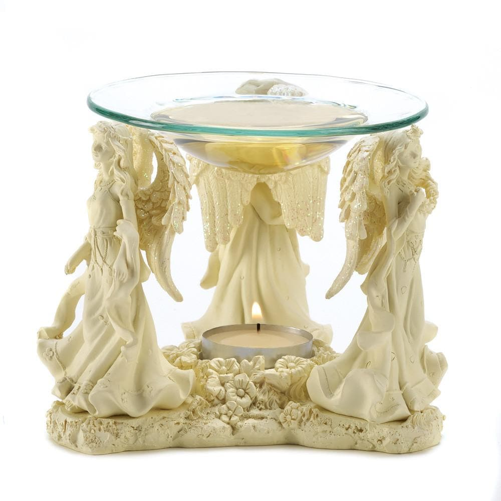 Angelic Trio Oil Warmer with 1 Tea Light and Choice of Oil - The House of Awareness