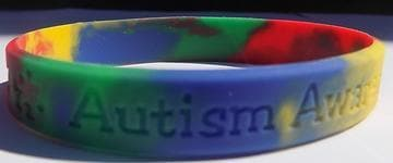 2 Multi Colored Silicon Autism Awareness ADULT Bracelet - The House of Awareness