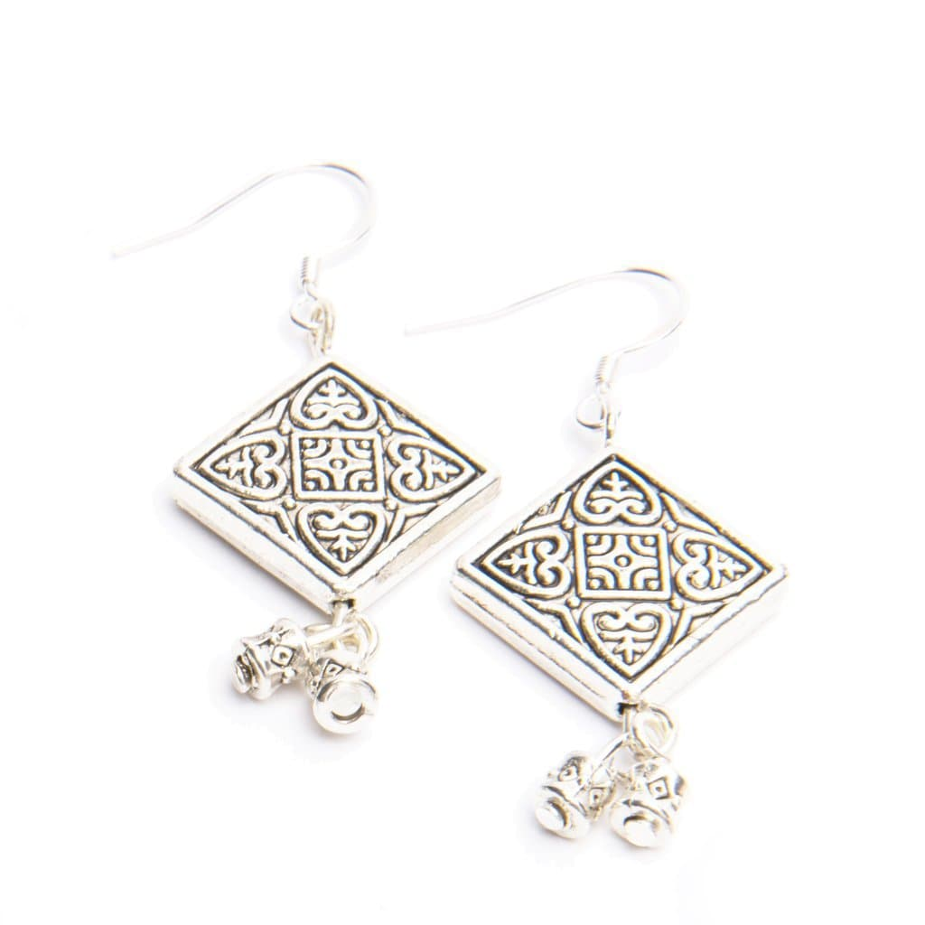Hope Tibetan Silver Earrings - The House of Awareness