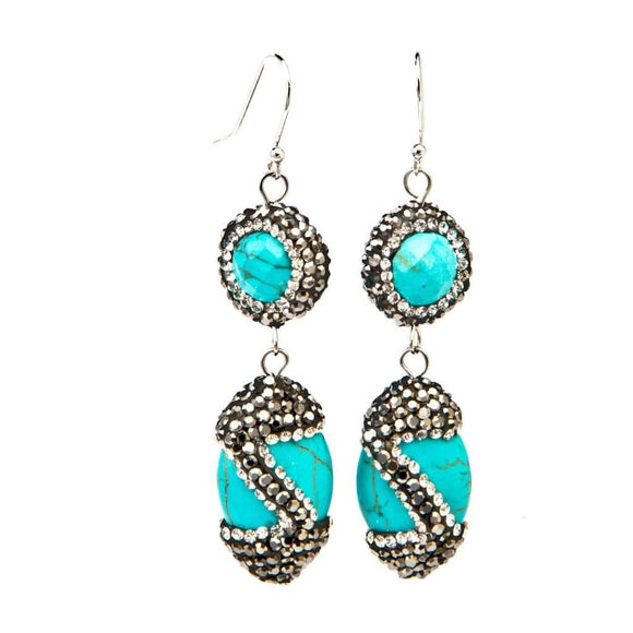 Designer Isis Turquoise Earrings